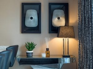 Side Table with Lamp Shade