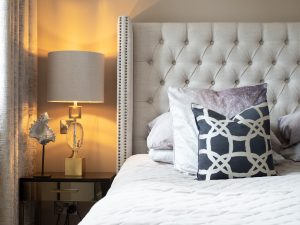 Bed and Bedside Lamp