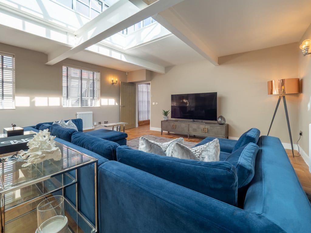 Living Room - Blue Sofa