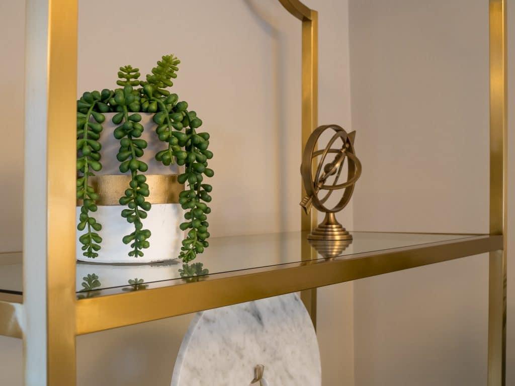 Decorations on Shelf