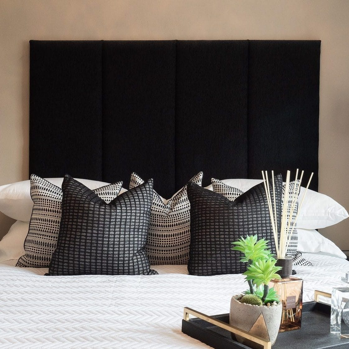 Black and White Coloured Bedroom